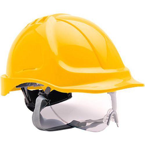 Bezpečnostná prilba Endurance Visor, žltá