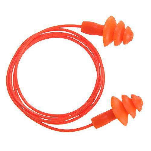 Opätovne použiteľné ušné konektory TPR (50párov), oranžová