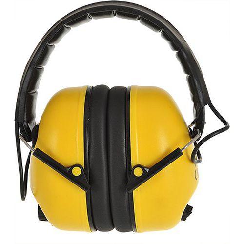 Elektronický mušľový chránič sluchu, žltá