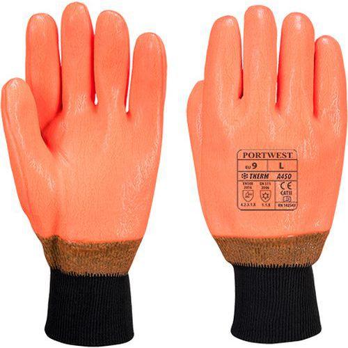 Rukavice vodeodolné HI-VIS, oranžová