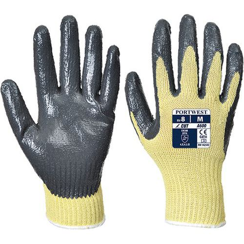 Protiporézne 3 nitrilové rukavice, sivá/žltá