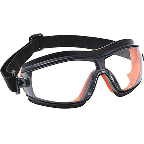 Tenké bezpečnostné okuliare, priehľadná