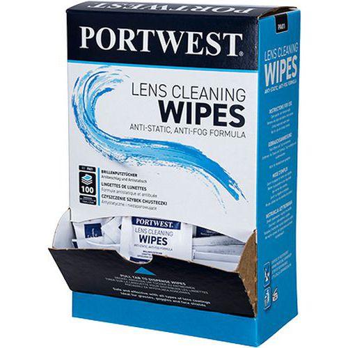 Portwest čistiace utierky na okuliare, biele, 100 ks