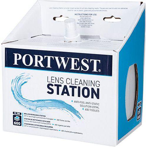 Portwest čistiace utierky na okuliare, biele, 600 ks