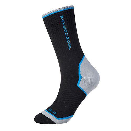 Výkonné vode odolné ponožky, čierna
