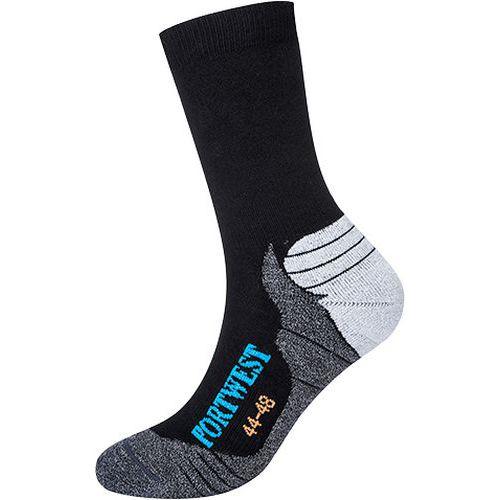 Bambusové turistické ponožky, čierna