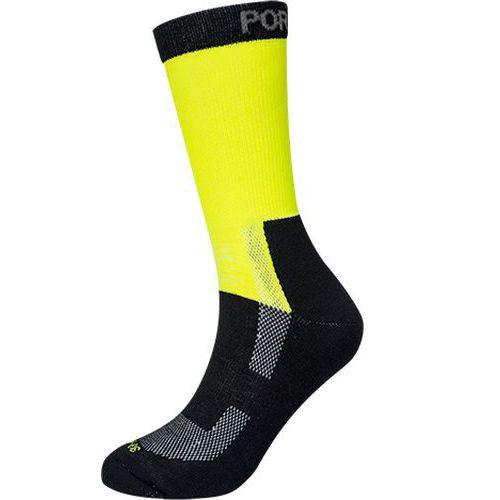 Ľahké Hi-Vis ponožky, žltá