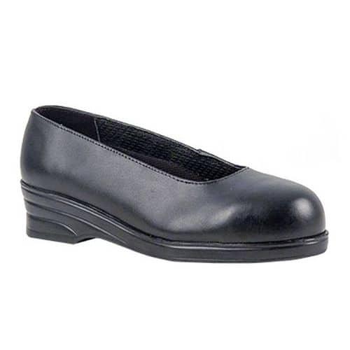 Dámske poltopánky Steelite Court S1, čierna