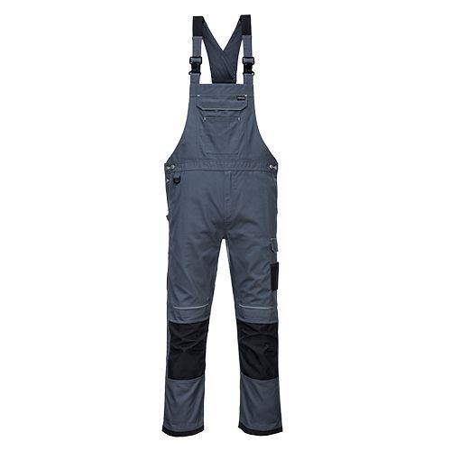 PW3 Pracovné Nohavice na traky, sivá/čierna