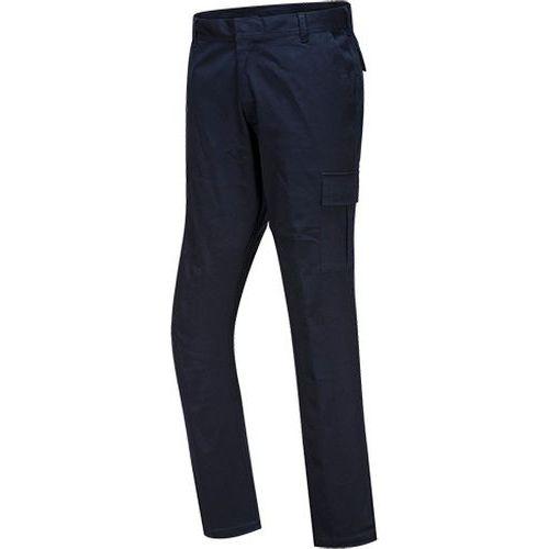 Streč Slim Combat nohavice, tmavo modrá