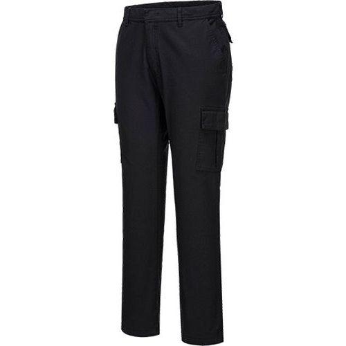 Streč Slim Combat nohavice, čierna