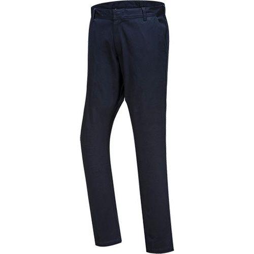 Streč Slim Chino nohavice, tmavo modrá