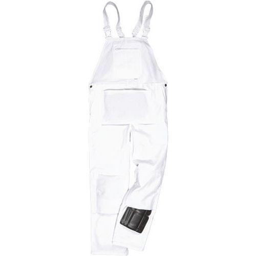 Nohavice na traky Bolton Painter, biela