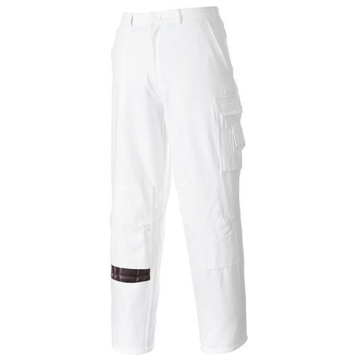 Maliarske nohavice, biela