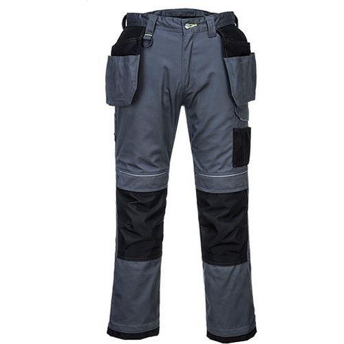 PW3 Pracovné Holster nohavice, sivá/čierna