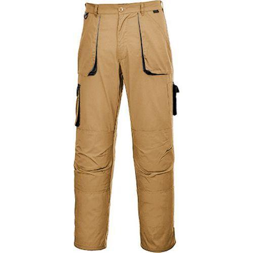Nohavice Portwest Texo Contrast, svetlohnedá