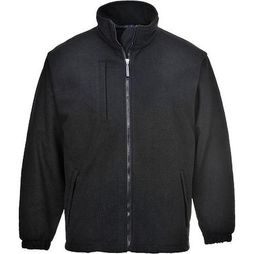 Fleecová mikina BuildTex (3L), čierna