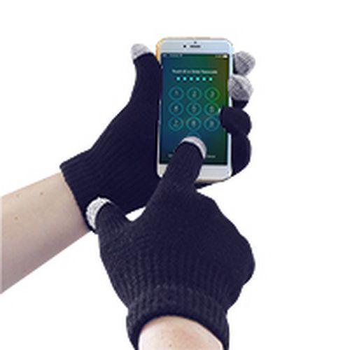 Pletené rukavica Touchscreen, modrá