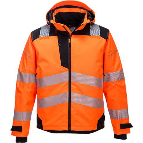 PW3 Extrémne priedušná bunda do dažďa, čierna/oranžová