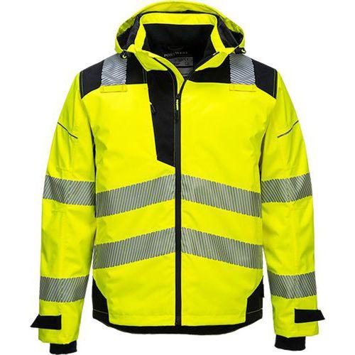 PW3 Extrémne priedušná bunda do dažďa, čierna/žltá