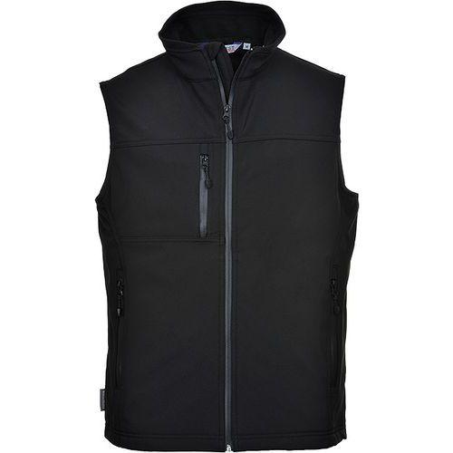 Softshellová vesta (3L), čierna
