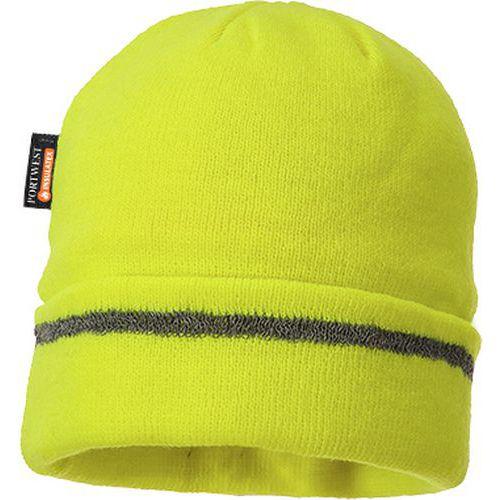 Thin čiapka  Insulatex lemovaná reflexným pásikom, žltá