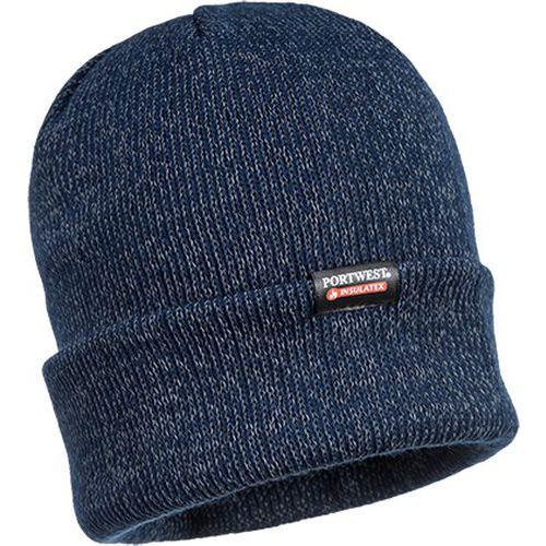 Reflexná pletená čiapka, modrá