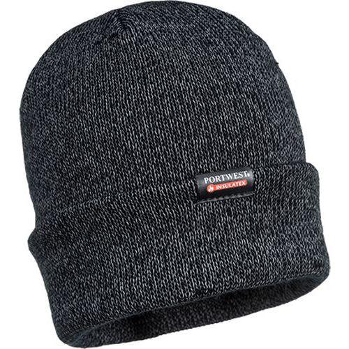 Reflexná pletená čiapka, čierna