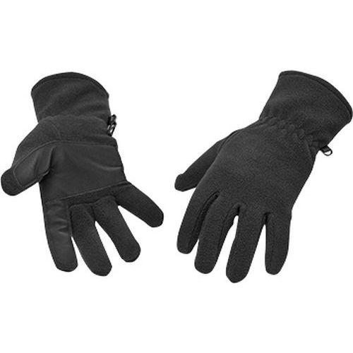 Flisové rukavice, čierna