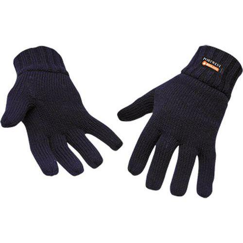 Pletené rukavice s podšívkou Insulatex, modrá