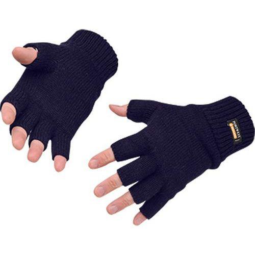 Bezprstové pletené Insulatex rukavice, modrá