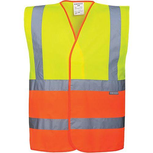Reflexná vesta dvojfarebná, oranžová/béžová