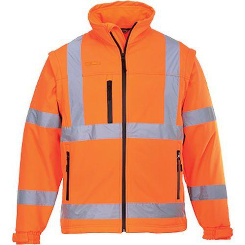 Vetrovka Hi-Vis Softshell, oranžová