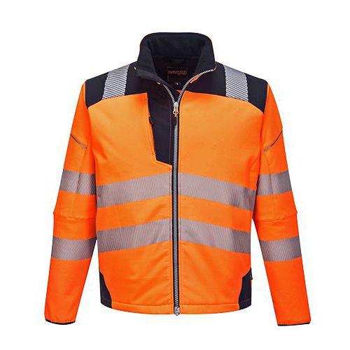 PW3 Hi-Vis Softshell bunda, modrá/oranžová