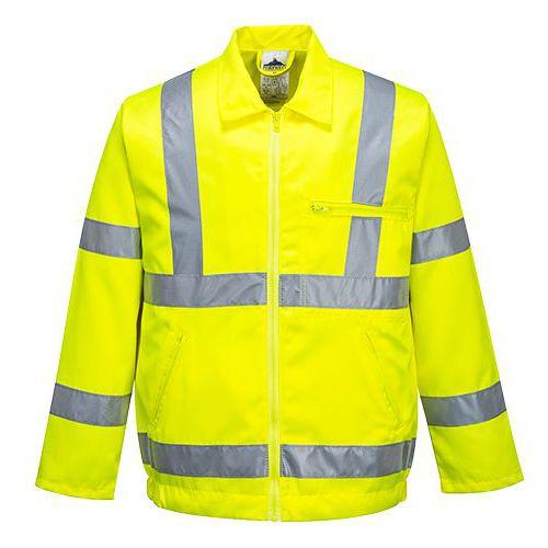 Hi-Vis Poly-bavlnená bunda, žltá