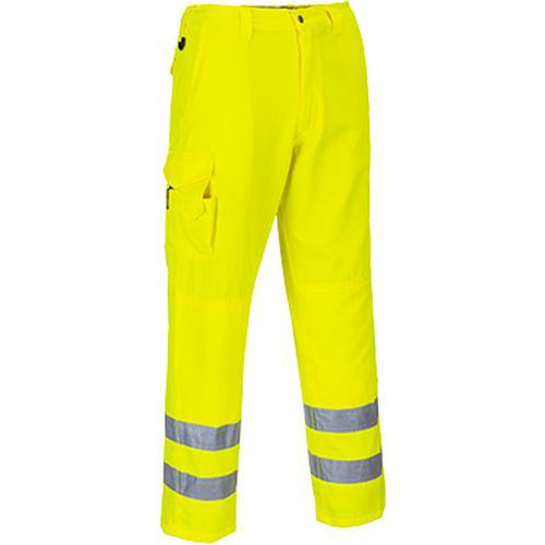 Hi-Vis nohavice Combat, žltá, predĺženej