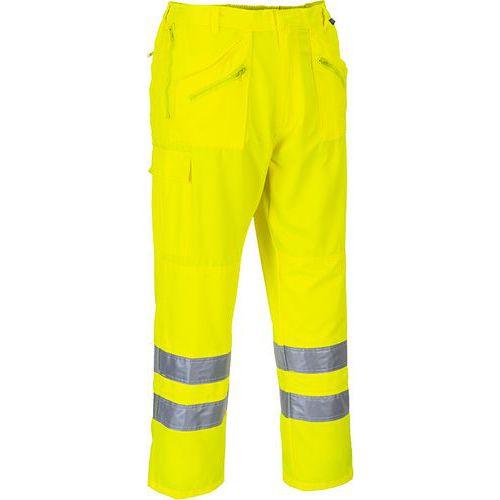Hi-Vis nohavice Action, žltá, predĺženej