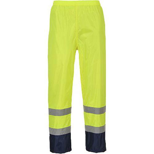 Nohavice Hi-Vis Classic Rain, modrá/žltá