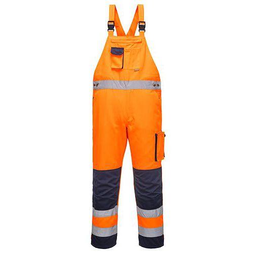 Nohavice na traky Dijon Hi-Vis, modrá/oranžová