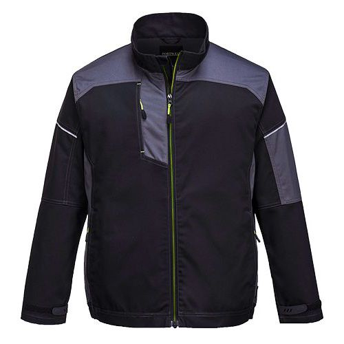 PW3 Pracovná bunda, čierna/sivá
