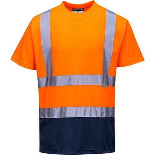 Tričko Two Tone, modrá/oranžová
