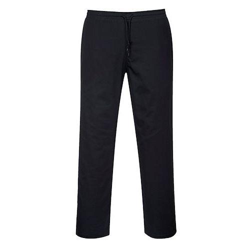 Nohavice so sťahovaním na šnúrku, čierna