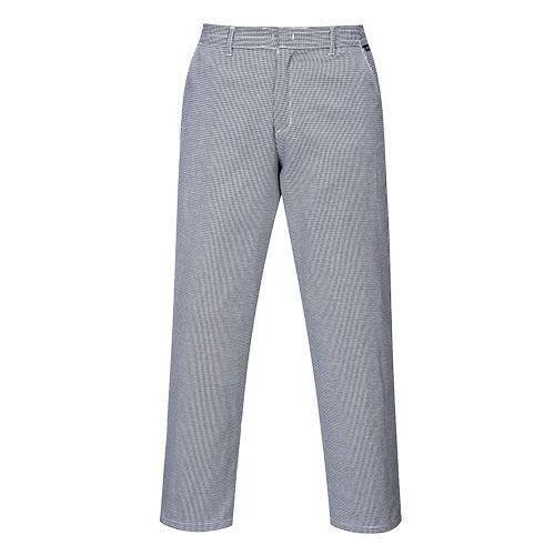 Kuchárske nohavice Harrow, biela/sivá