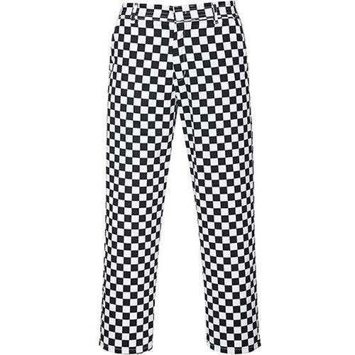 Kuchárske nohavice Harrow, čierna/biela