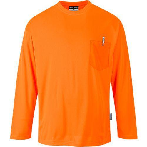 Day-Vis tričko s dlhým rukávom, oranžová