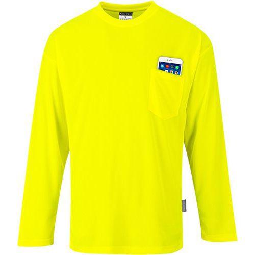 Day-Vis tričko s dlhým rukávom, žltá