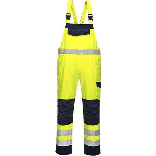 Hi Vis MODAFLAME nohavice na traky, modrá/žltá