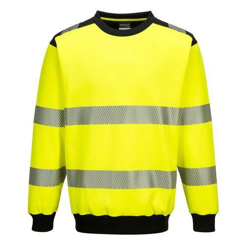 PW3 Hi-Vis mikina, čierna/žltá