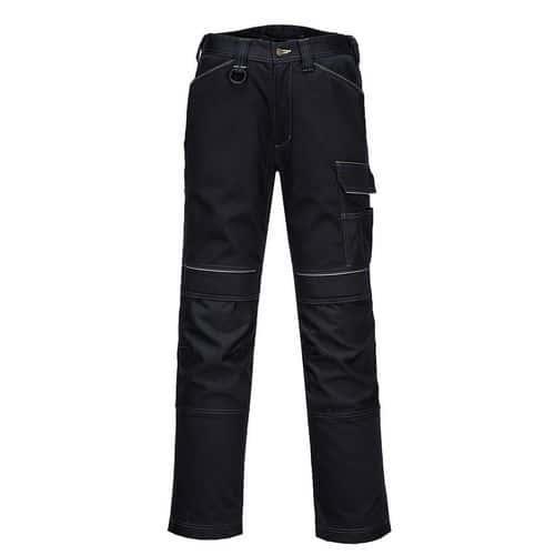 PW3 Dámske elastické pracovné nohavice, čierna