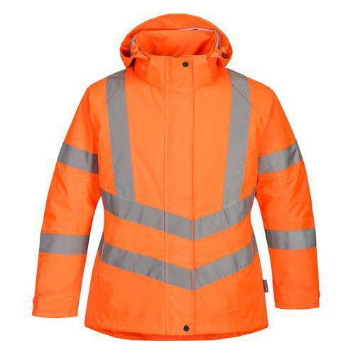 Dámska Hi-Vis Zimná Bunda, oranžová